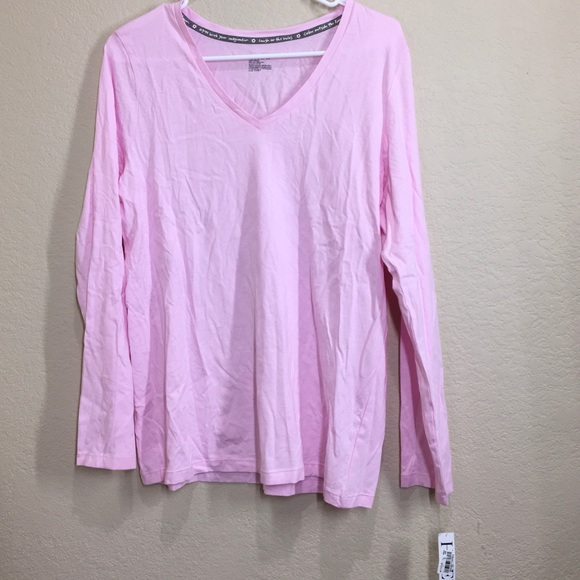 HUE Long Sleeve V-Neck Sleep Tee c3d8ec807